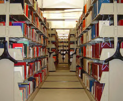 University of Washington library mobile shelving system