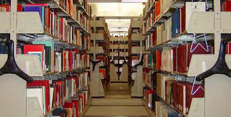 University of Washington library mobile shelving system
