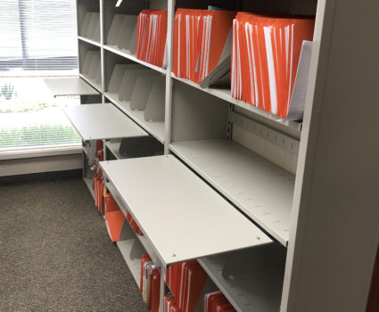 4-Post shelving for California insurance company records storage