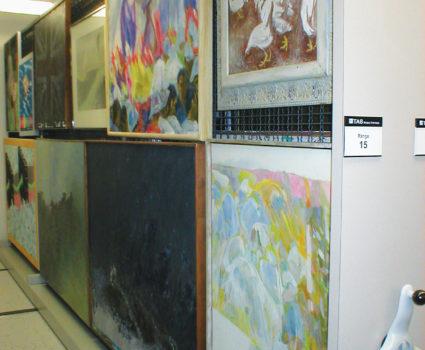 Fine art storage on TAB-TRAC high-density mobile