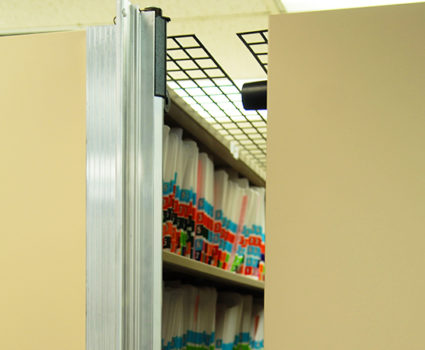 The TAB-TRAC Ultra Secure mobile shelving system includes added features that allow you to protect critical collections against frontal and overhead access.