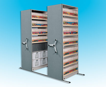 For lighter-duty applications, TAB's Modular Mobile shelving system is a cost-effective way to store more in less space.