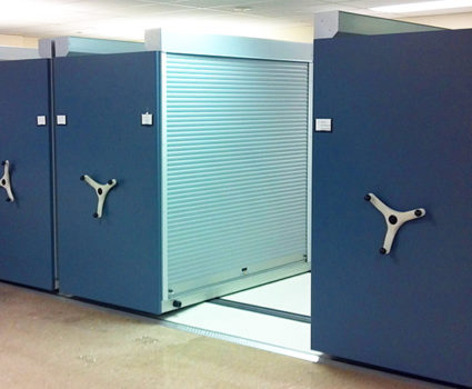 TAB Rollok Rolling Doors make any existing storage system completely secure and compliant.