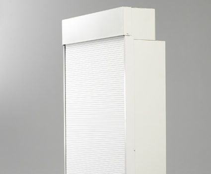 TAB's locking tambour door allows you to completely secure the front face of your storage cabinet.