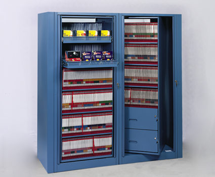 Twinfile rotary cabinets