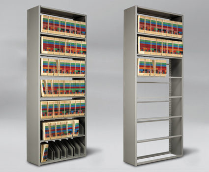 TAB Unistor is a flexible storage system that provides easy access to stored collections. It can be mounted on mobile carriages to increase your available storage space.