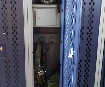 Military locker installation - blue lockers - half-size - 5