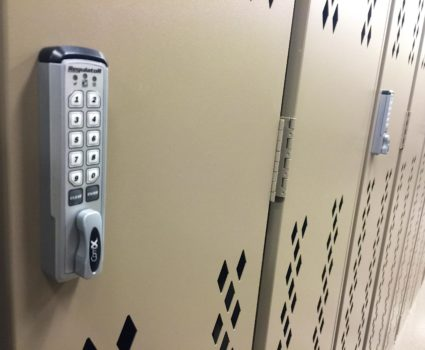 Storage lockers for engineering and land development company - locker with keypad lock
