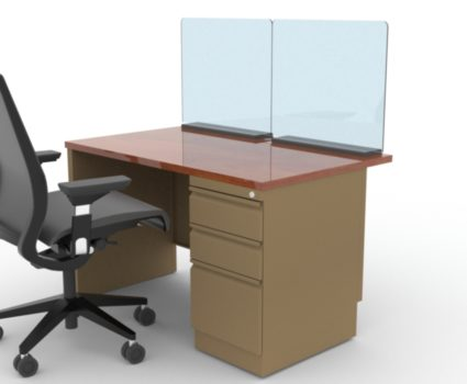 TAB work area employee safety shield for desks - protect your employees' new work environment following COVID-19