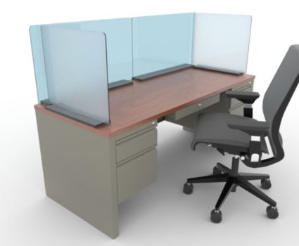 TAB work area employee safety shield - protect your employees' new work environment following COVID-19 - for any work surface